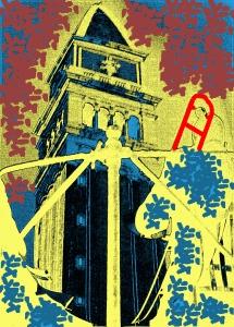 Campanile di San Marco e Orchestrali della Banda Municipale - 1961 - Foto e grafica di Ernesto Giorgi ©