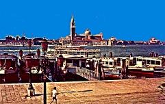 Venezia – Riva degli Schiavoni - L'aliscafo Trieste-Venezia ora soppresso – 1961 – Ernesto Giorgi ©