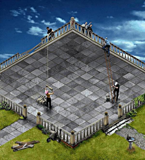 Maurits Corneli Escher (1898 – 1972) – Operai al lavoro in un mondo senza dimensioni.