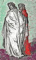 Gustave Dorè – Divina Commedia – Dante e Virgilio - Elaborazione grafica di Ernesto Giorgi ©