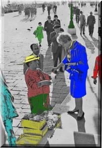 Venezia – Ponte della Paglia – Venditore di giocattoli – 1961 – Ernesto Giorgi ©