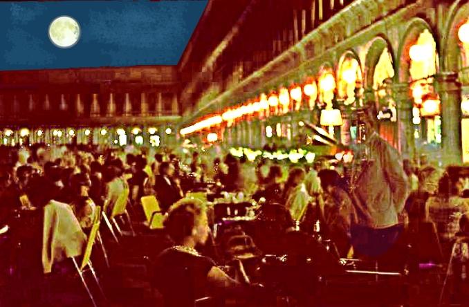 Venezia – Piazza San Marco – Il Caffè Quadri in una notte dell'estate 1961 – Ernesto Giorgi ©