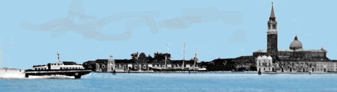 Venezia – L'aliscafo proveniente da Trieste (ora soppresso) e l'isola di San Giorgio Maggiore – 1961 – Ernesto Giorgi ©