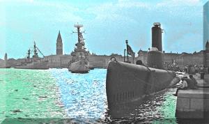 Venezia – Riva Schiavoni – Navi da guerra alleate – 1960 – Ernesto Giorgi ©
