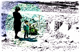 Il destino? A questa donna, qualcuno certamente ha tolto la casa, il marito e gli altri figli – Vajont – 1963 – Ernesto Giorgi ©