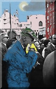 Venezia -1961 - Varie persone ascoltano in Piazza San Marco la Banda Municipale – Ernesto Giorgi ©