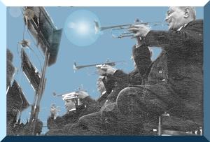 Venezia – Piazza San Marco – 1961 – La sezione fiati della Banda Municipale – Ernesto Giorgi ©